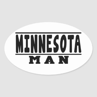 Minnesota Man Designs Oval Sticker