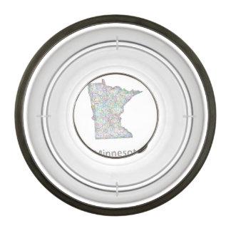 Minnesota map bowl