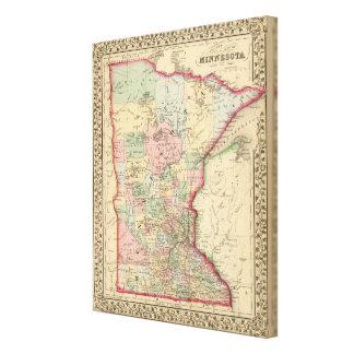 Minnesota Map by Mitchell Canvas Print