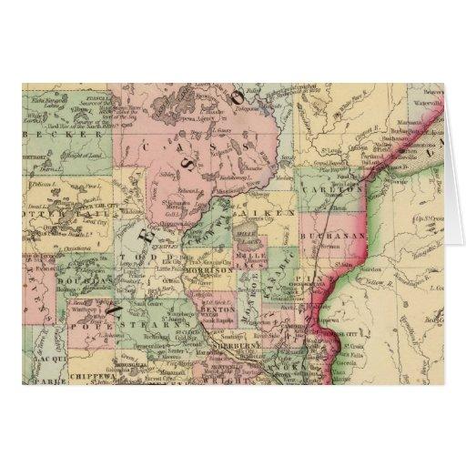 Minnesota Map by Mitchell Card