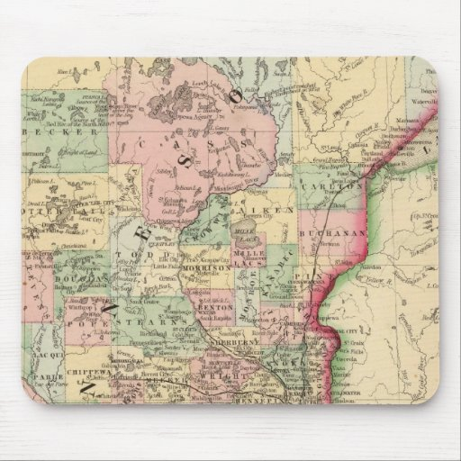 Minnesota Map by Mitchell Mouse Pads