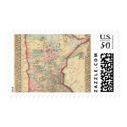 Minnesota Map by Mitchell Postage