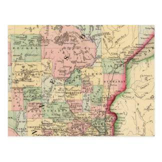 Minnesota Map by Mitchell Postcards