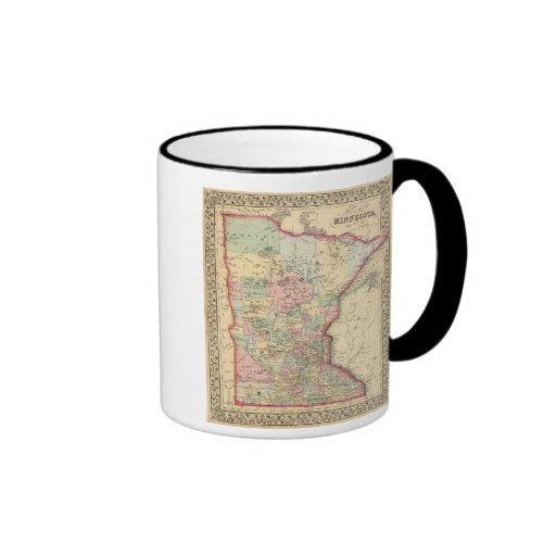 Minnesota Map by Mitchell Ringer Coffee Mug