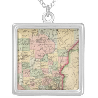 Minnesota Map by Mitchell Square Pendant Necklace