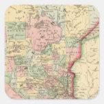 Minnesota Map by Mitchell Square Sticker