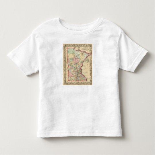 Minnesota Map by Mitchell Toddler T-shirt
