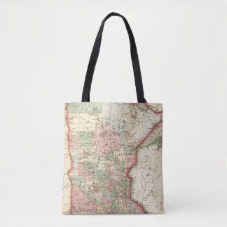 Minnesota Map by Mitchell Tote Bag