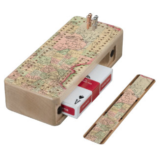 Minnesota Map by Mitchell Wood Cribbage Board