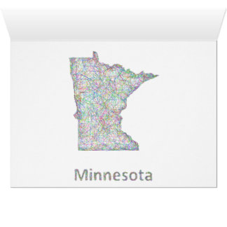Minnesota map card