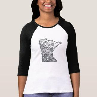 Minnesota Map Doodle T-Shirt