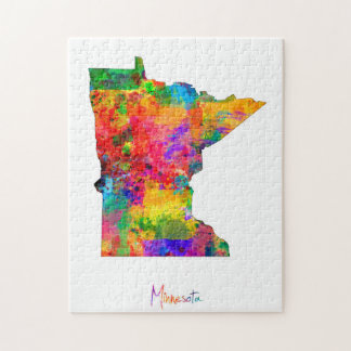 Minnesota Map Jigsaw Puzzle