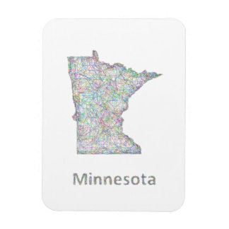 Minnesota map magnet