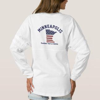 Minnesota Map | Patriotic USA Flag | Your City Spirit Jersey