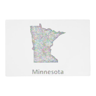 Minnesota map placemat