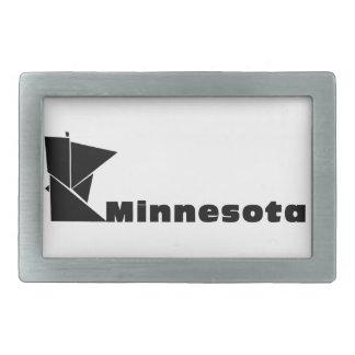 Minnesota Map Rectangular Belt Buckle