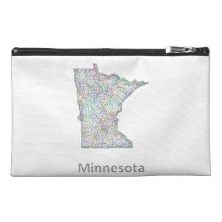Minnesota map travel accessory bag
