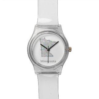 Minnesota map wristwatch