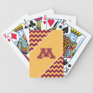 Minnesota Maroon and Gold M Bicycle Playing Cards