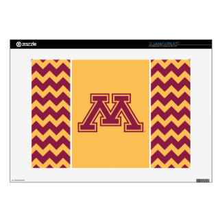 "Minnesota Maroon and Gold M Decal For 15"" Laptop"