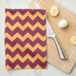 """Minnesota Maroon and Gold M Kitchen Towel<br><div class=""""desc"""">Check out these official University of Minnesota designs! Personalize your own Minnesota merchandise on Zazzle.com with your name or class year. Try adding text using various fonts &amp; view a preview of your design!</div>"""