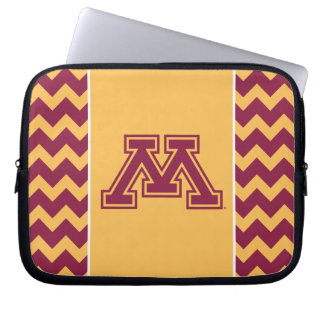 Minnesota Maroon and Gold M Laptop Computer Sleeve