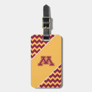 Minnesota Maroon and Gold M Luggage Tag