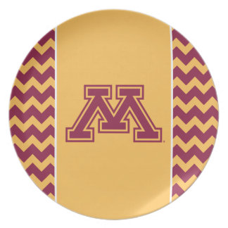 Minnesota Maroon and Gold M Dinner Plates