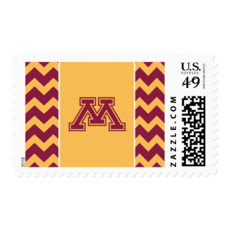 Minnesota Maroon and Gold M Postage Stamps