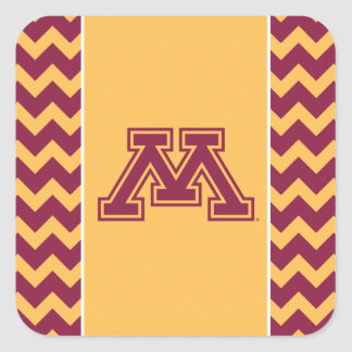 Minnesota Maroon and Gold M Square Sticker