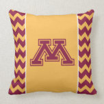 Minnesota Maroon and Gold M Throw Pillows