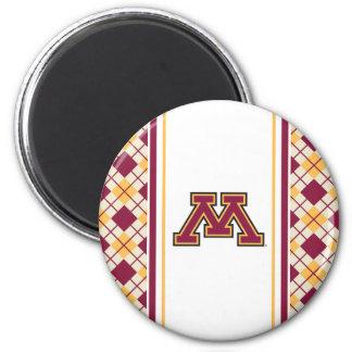Minnesota Maroon & Gold M 2 Inch Round Magnet