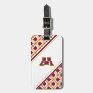 Minnesota Maroon & Gold M Bag Tag