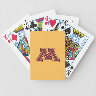 Minnesota Maroon & Gold M Bicycle Playing Cards