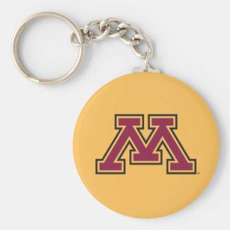 Minnesota Maroon & Gold M Keychain