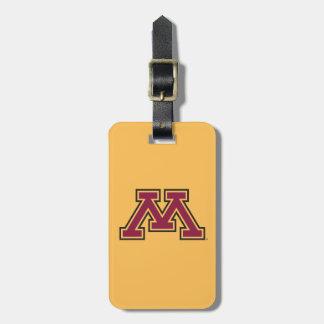 Minnesota Maroon & Gold M Luggage Tag