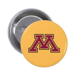 Minnesota Maroon & Gold M Pinback Button