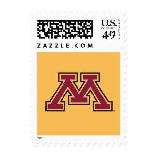 Minnesota Maroon & Gold M Postage