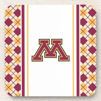 Minnesota Maroon & Gold Stroke M Coaster