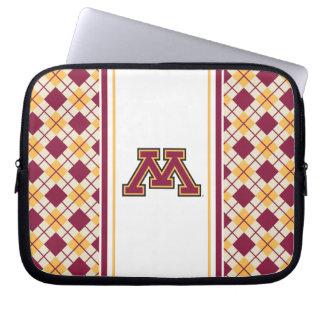 Minnesota Maroon & Gold Stroke M Laptop Computer Sleeves