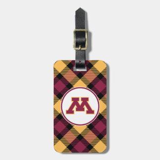 Minnesota Maroon M Bag Tag