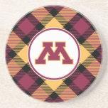 Minnesota Maroon M Beverage Coasters