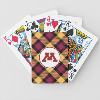 Minnesota Maroon M Bicycle Playing Cards