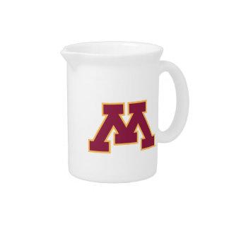 Minnesota Maroon M Drink Pitcher