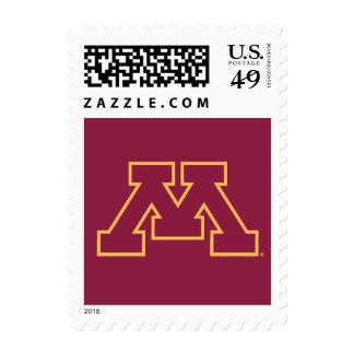 Minnesota Maroon M Stamps