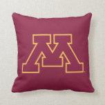 Minnesota Maroon M Throw Pillows