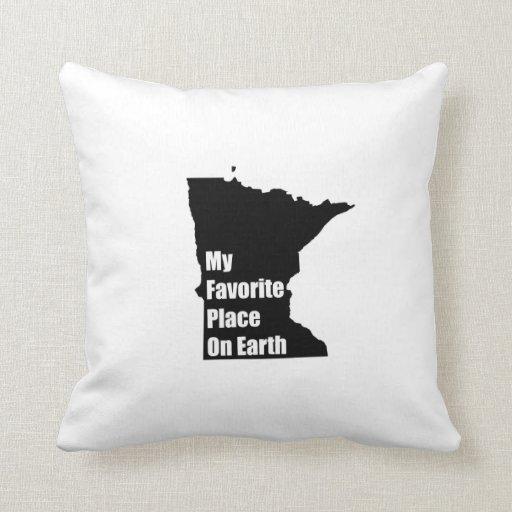 Minnesota mi lugar preferido en la tierra almohadas