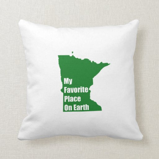Minnesota mi lugar preferido en la tierra cojin