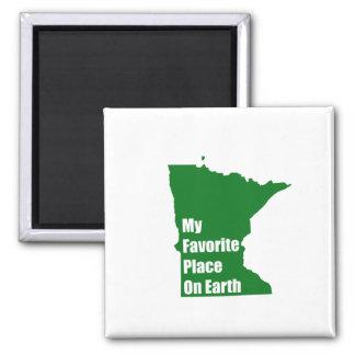 Minnesota mi lugar preferido en la tierra imanes de nevera