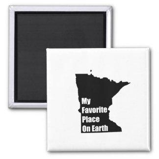 Minnesota mi lugar preferido en la tierra iman de nevera